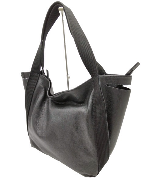 BORSA GIANNI CHIARINI 7630 IN PELLE MARTELLATA COLOR NERO