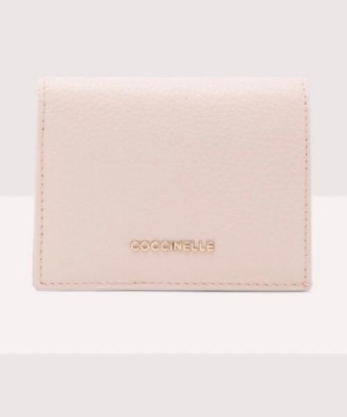 Metallic Soft PORTAFOGLIO COCCINELLE IN PELLE MARTELLATA COLORE New pink