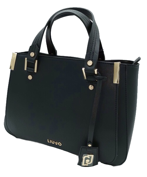 BORSA LIU JO SHOPPING IN ECOPELLE SAFFIANO NERA AA0012