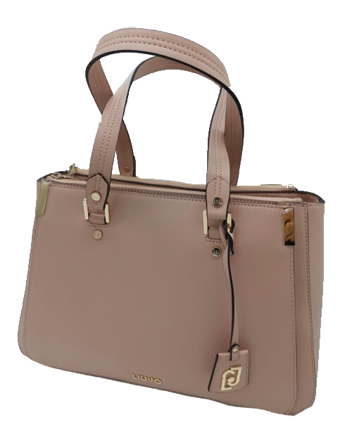 BORSA LIU JO SHOPPING IN ECOPELLE SAFFIANO ROSA AA0012