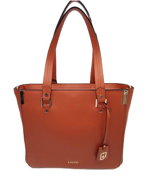BORSA LIU JO SHOPPING IN ECOPELLE SAFFIANO TERRACOTTA  AA0006